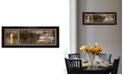 """Trendy Decor 4U God Bless Our Home By Robin-Lee Vieira, Printed Wall Art, Ready to hang, Black Frame, 8"""" x 20"""""""
