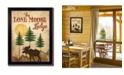 "Trendy Decor 4U Lone Moose By Mollie B., Printed Wall Art, Ready to hang, Black Frame, 14"" x 18"""
