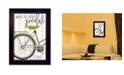 "Trendy Decor 4U Trendy Decor 4U When In Doubt By Marla Rae, Printed Wall Art, Ready to hang, Black Frame, 14"" x 20"""