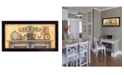 """Trendy Decor 4U Come Gather at Our Table By Mary June, Printed Wall Art, Ready to hang, Black Frame, 36"""" x 16"""""""