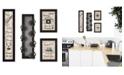 "Trendy Decor 4U Kitchen Collection VII 4-Piece Vignette with 7-Peg Mug Rack by Millwork Engineering, Black Frame, 10"" x 32"""