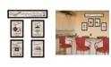 """Trendy Decor 4U Kitchen Friendship Collection II 5-Piece Vignette by Millwork Engineering, Black Frame, 32"""" x 10"""""""