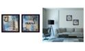 "Trendy Decor 4U Trendy Decor 4U Yoga I Collection By Debbie DeWitt, Printed Wall Art, Ready to hang, Black Frame, 28"" x 14"""