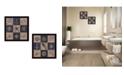 "Trendy Decor 4U Coastal Collage Collection By Debbie DeWitt, Printed Wall Art, Ready to hang, Black Frame, 28"" x 14"""