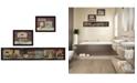 "Trendy Decor 4U Trendy Decor 4U COUNTRY BATH II 3-Piece Vignette by Pam Britten, Black Frame, 38"" x 13"""