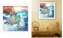 "Trendy Decor 4U Sunset Mermaid by Bluebird Barn, Ready to hang Framed Print, White Frame, 15"" x 15"""