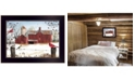 "Trendy Decor 4U Winter Friends by Billy Jacobs, Ready to hang Framed Print, Black Frame, 18"" x 14"""