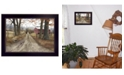 """Trendy Decor 4U The Road Home By Billy Jacobs, Printed Wall Art, Ready to hang, Black Frame, 14"""" x 10"""""""