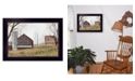 """Trendy Decor 4U Mail Pouch Barn By Billy Jacobs, Printed Wall Art, Ready to hang, Black Frame, 18"""" x 14"""""""