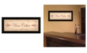 "Trendy Decor 4U Trendy Decor 4U Wine Cellar By Becca Barton, Printed Wall Art, Ready to hang, Black Frame, 20"" x 8"""