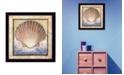 "Trendy Decor 4U Shell By Ed Wargo, Printed Wall Art, Ready to hang, Black Frame, 14"" x 14"""