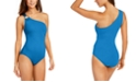Michael Kors Embellished One-Shoulder Underwire One-Piece Swimsuit