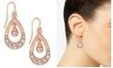 Charter Club Rose Gold-Tone Crystal Orbital Drop Earrings, Created For Macy's