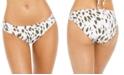 La Blanca Brush Stroke Printed Shirred Bikini Bottoms