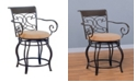 "Coaster Home Furnishings Alameda 24"" Metal Counter Stool with Upholstered Seat"