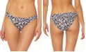 Jessica Simpson Cool Cat Printed Shirred Hipster Bikini Bottoms