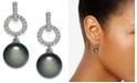 Eliot Danori Silver-Tone Pavé & Imitation Pearl Drop Earrings, Created For Macy's