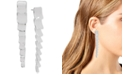 Robert Lee Morris Soho Silver-Tone Sculptural Square Link Linear Drop Earrings