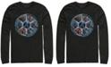 Marvel Men's Avengers Endgame Wheel of Heros, Long Sleeve T-shirt