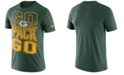 Nike Men's Green Bay Packers Dri-Fit Cotton Mezzo Local Verbiage T-Shirt