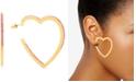 Steve Madden Gold-Tone Rhinestone Open Heart Drop Earrings