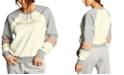 Champion Super Fleece Faux-Fur Colorblocked Metallic-Logo Sweatshirt