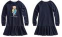 Polo Ralph Lauren Big Girls Raincoat Bear Terry Dress