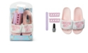 Tricoastal Women's Slide Slipper And Pedicure 4pc Gift Set, Online Only