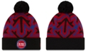 New Era Detroit Pistons Big Flake Pom Knit Hat