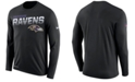 Nike Men's Baltimore Ravens Sideline Legend Line of Scrimmage Long Sleeve T-Shirt