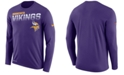Nike Men's Minnesota Vikings Sideline Legend Line of Scrimmage Long Sleeve T-Shirt