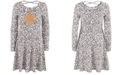 Epic Threads Big Girls Snow Leopard Heart Dress, Created For Macy's