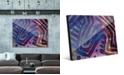"Creative Gallery Kasanka in Purple Abstract 16"" x 20"" Acrylic Wall Art Print"