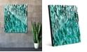 "Creative Gallery Kitoba in Green Abstract 20"" x 24"" Acrylic Wall Art Print"