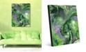 "Creative Gallery Wild Crane on Geeen Abstract 16"" x 20"" Acrylic Wall Art Print"