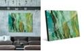 "Creative Gallery Kunja on Mint Abstract 16"" x 20"" Acrylic Wall Art Print"