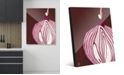 """Creative Gallery Large Sliced Graphic Onion on Brown 20"""" x 24"""" Acrylic Wall Art Print"""