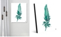"Creative Gallery Seafoam Feather on White 24"" x 36"" Acrylic Wall Art Print"