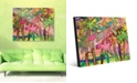 """Creative Gallery Palms in Lime Pink Abstract 16"""" x 20"""" Acrylic Wall Art Print"""