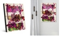 Creative Gallery Engine Block Magenta Abstract Acrylic Wall Art Print Collection