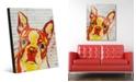 "Creative Gallery Boston Terrier Graffiti in Orange Yellow 24"" x 36"" Acrylic Wall Art Print"