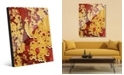 Creative Gallery Flaking Wall Caution in Yellow Red Abstract Acrylic Wall Art Print Collection