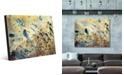 "Creative Gallery Blue Rust on Light Yellow Paint Abstract 20"" x 24"" Acrylic Wall Art Print"