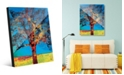 Creative Gallery Radiant Tree in Red Yellow Abstract Acrylic Wall Art Print Collection