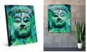 Creative Gallery Teal Green Stained Buddha Abstract Acrylic Wall Art Print Collection