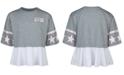 Converse Big Girls Cotton Peplum T-Shirt