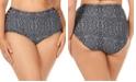 Raisins Curve Trendy Plus Size Juniors' Mahina Grace Bay Printed Tummy Control High-Waist Bikini Bottoms