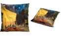 """Red Lantern Van Gogh Cafe At Night Pillow, 14.25"""" x 14.25"""""""