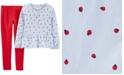 Carter's Little & Big Girls 2-Pc. Ladybug-Print Peplum Top & Leggings Set