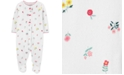 Carter's Baby Girls Cotton Floral-Print Pointelle Coverall